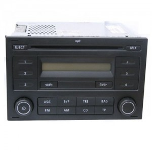 used genuine vw polo cd player radio mp3 rcd 200. Black Bedroom Furniture Sets. Home Design Ideas