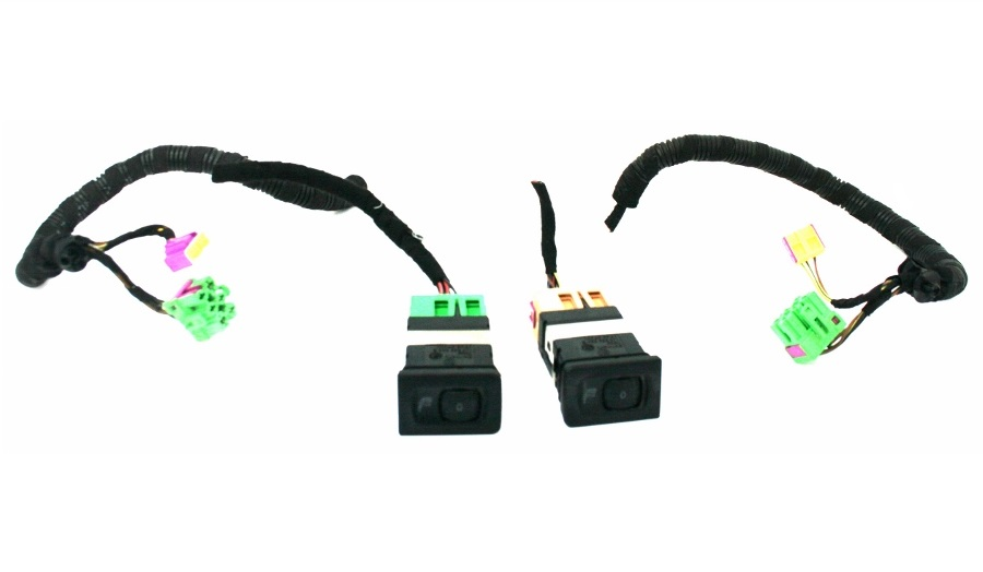 used genuine vw golf heated seat switches x 2 with cut wiring loom rh stevensvwspares com  vw heated seat wiring