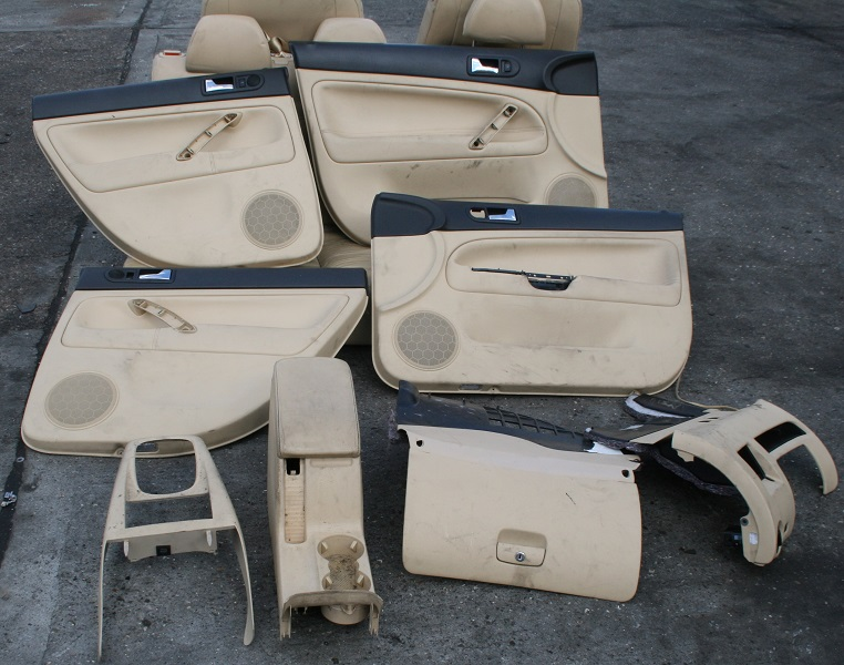 vw passat saloon b5 5 cream leather seats front rear interior parts ebay