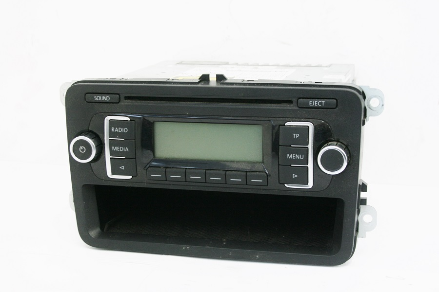 used genuine vw golf rcd 210 mp 3 car radio cd player. Black Bedroom Furniture Sets. Home Design Ideas