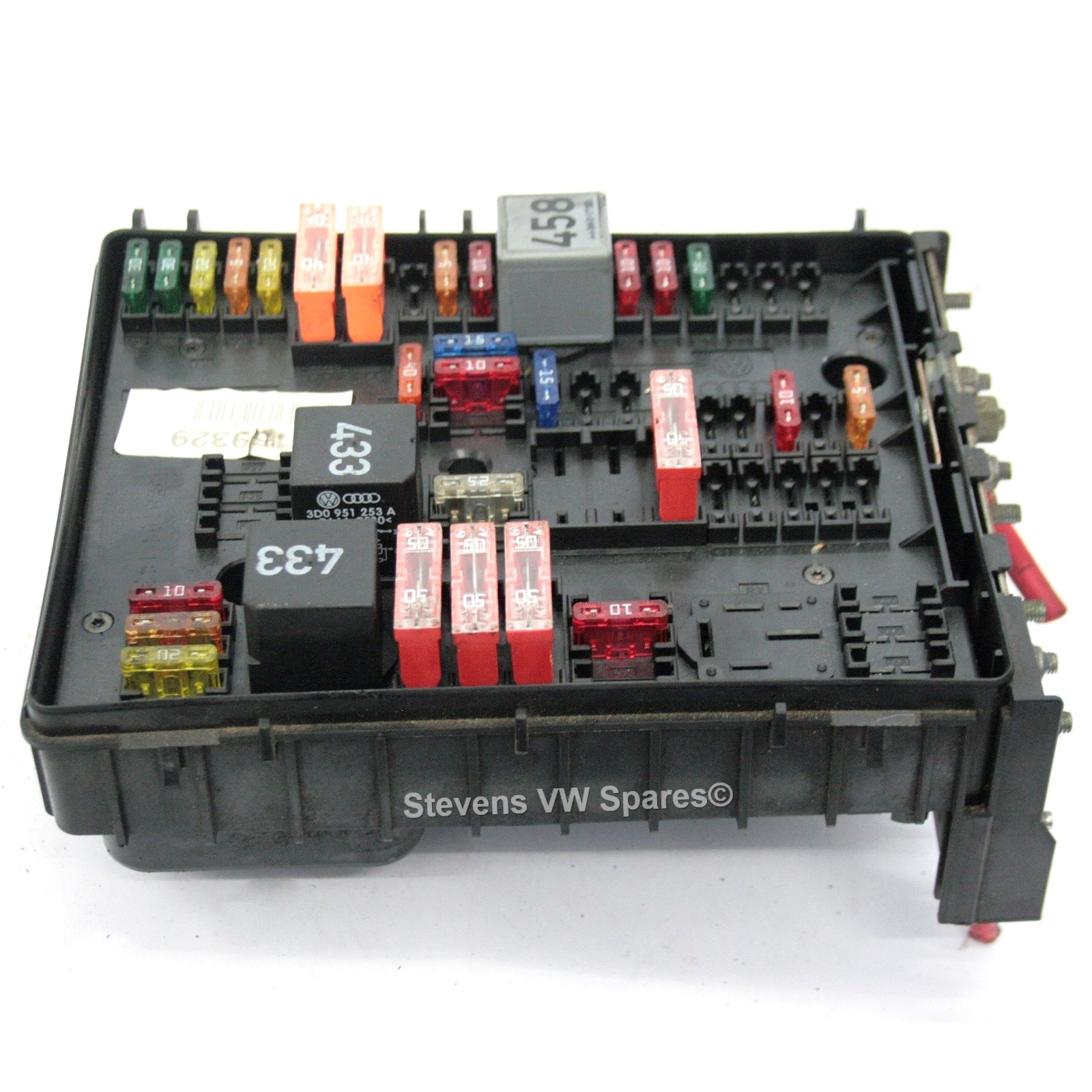 Components Of Fuse Box : Used genuine vw golf engine bay fuse box terminal k