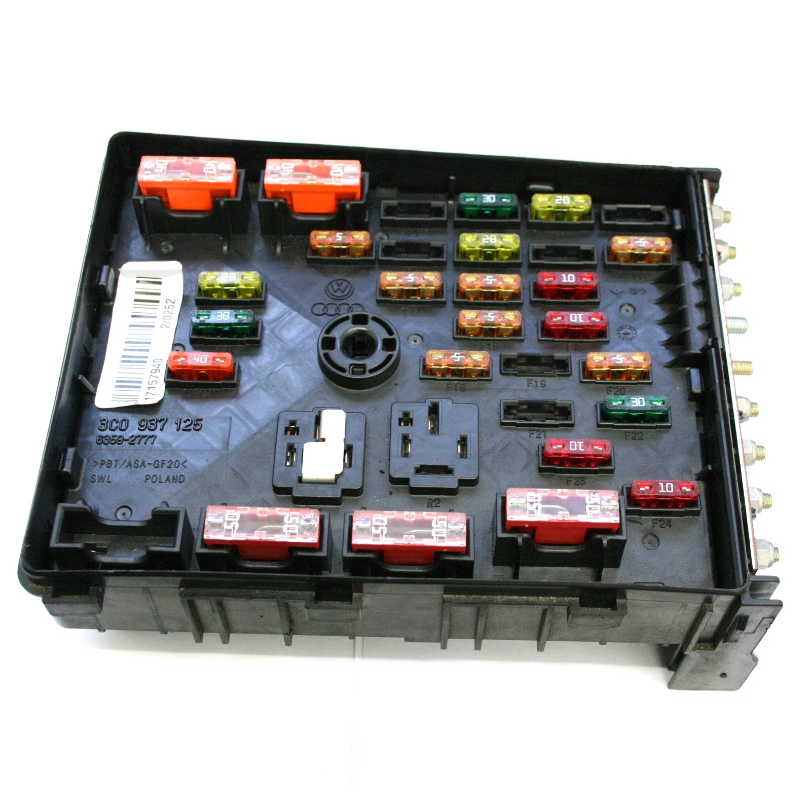 used genuine vw passat engine bay fuse box genuine oem 3c0 937 vw passat engine bay fuse box genuine oem£19 99
