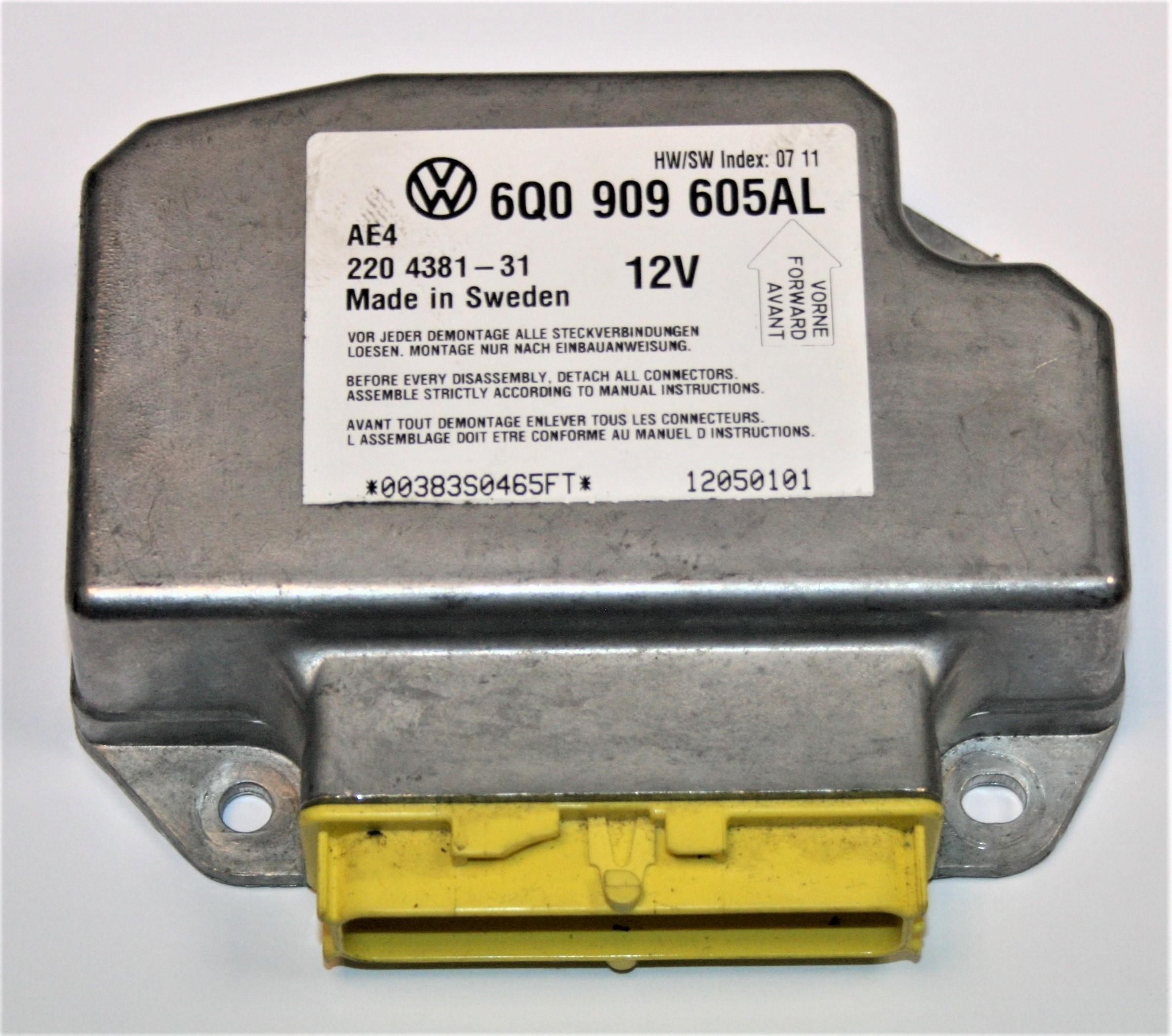 Vw Beetle Body Parts Uk: Used Genuine VW Beetle Air Bag Ecu Control Module