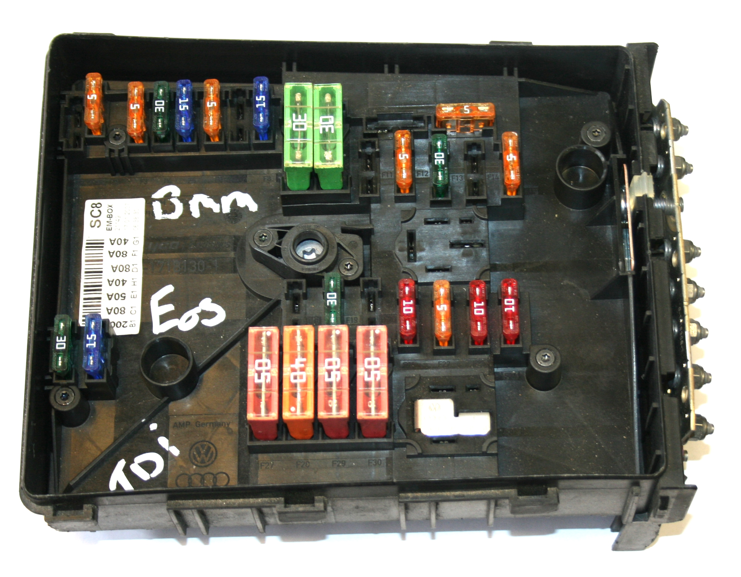Used Genuine Vw Eos Fuse Box 1k0 937 125 A Uk's No 1 Specialist 09 GTI Fuse  Box Vw Eos Fuse Box